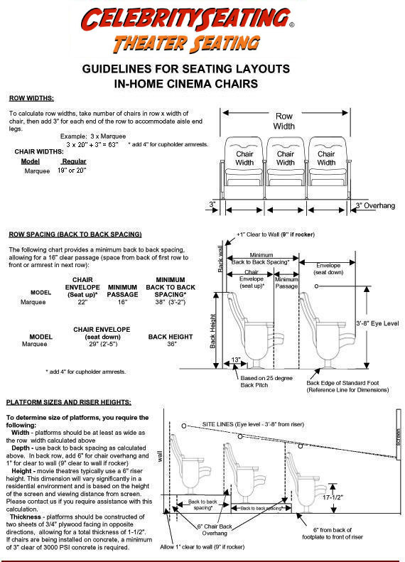 New Theater Seating Layout Diagram